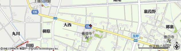愛知県一宮市玉野(西瀬古)周辺の地図