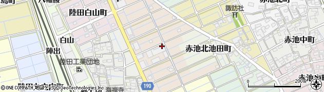 愛知県稲沢市陸田高畑町周辺の地図