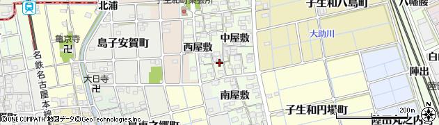 愛知県稲沢市子生和町周辺の地図