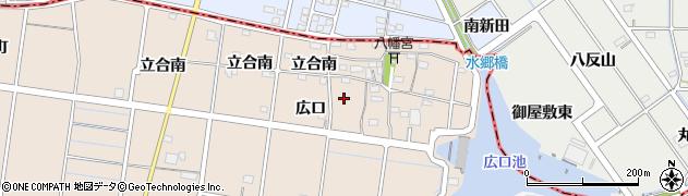 愛知県稲沢市祖父江町祖父江(広口)周辺の地図