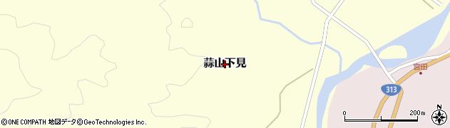 岡山県真庭市蒜山下見周辺の地図