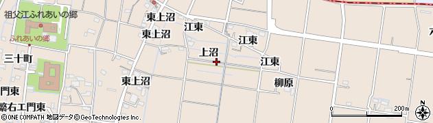 愛知県稲沢市祖父江町祖父江(上沼)周辺の地図