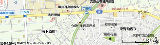 愛知県春日井市西島町周辺の地図