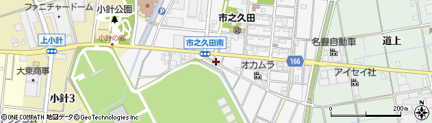愛知県小牧市市之久田周辺の地図