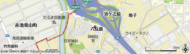 愛知県一宮市丹陽町九日市場(六反農)周辺の地図