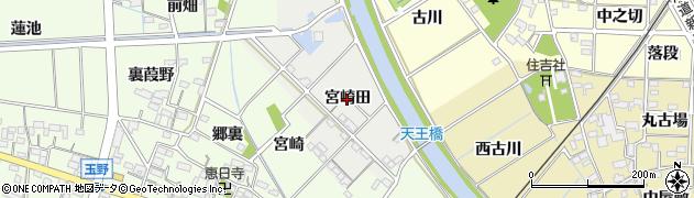 愛知県一宮市明地(宮崎田)周辺の地図