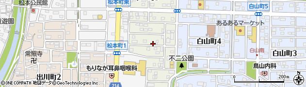 愛知県春日井市不二町周辺の地図