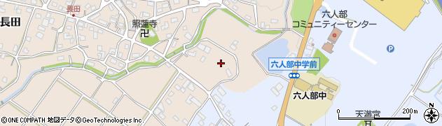 京都府福知山市長田南周辺の地図