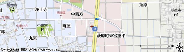 愛知県一宮市萩原町東宮重(中島方)周辺の地図