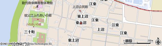 愛知県稲沢市祖父江町祖父江(東上沼)周辺の地図