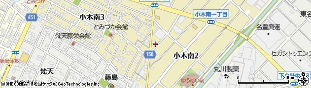 愛知県小牧市小木南周辺の地図
