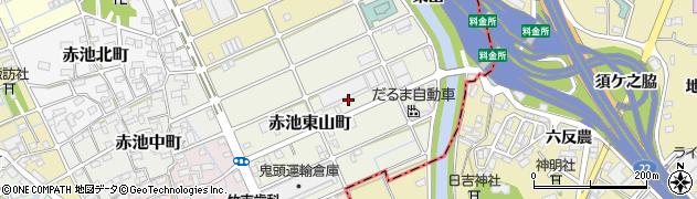 愛知県稲沢市赤池東山町周辺の地図