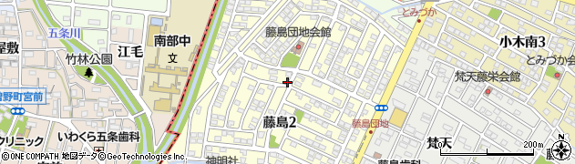 愛知県小牧市藤島周辺の地図