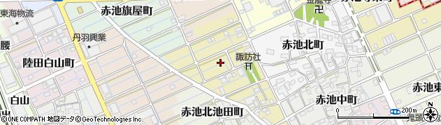 愛知県稲沢市赤池宮西町周辺の地図