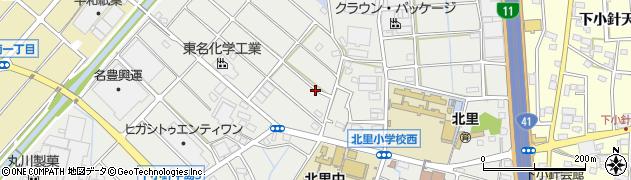 愛知県小牧市下小針中島周辺の地図
