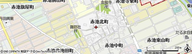 愛知県稲沢市赤池北町周辺の地図