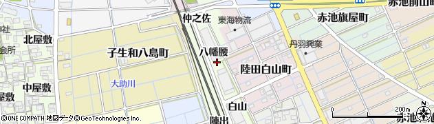 愛知県稲沢市子生和町(八幡腰)周辺の地図
