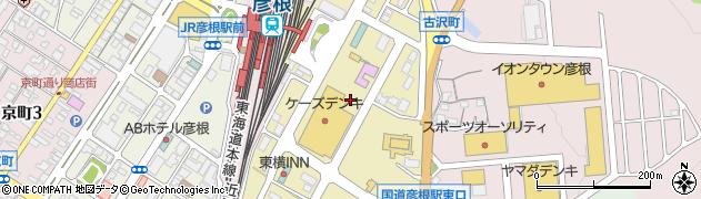 滋賀県彦根市駅東町周辺の地図