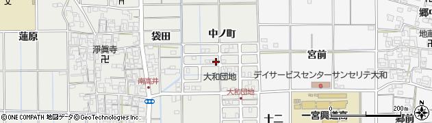 愛知県一宮市大和町南高井(中ノ町)周辺の地図