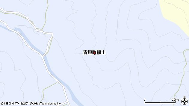 〒669-3827 兵庫県丹波市青垣町稲土の地図