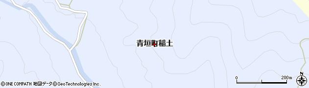 兵庫県丹波市青垣町稲土周辺の地図
