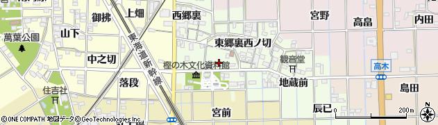 愛知県一宮市萩原町高松(高松)周辺の地図