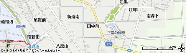 愛知県一宮市明地(田中前)周辺の地図