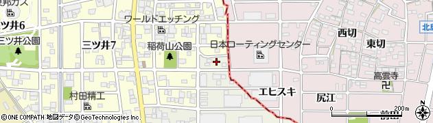 愛知県一宮市丹陽町三ツ井(小山)周辺の地図