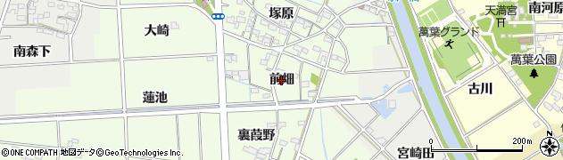 愛知県一宮市玉野(前畑)周辺の地図
