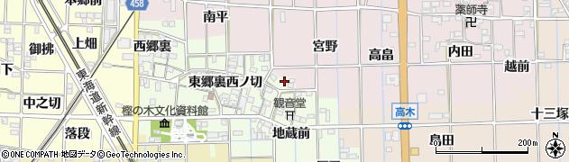 愛知県一宮市萩原町高松(東郷裏)周辺の地図