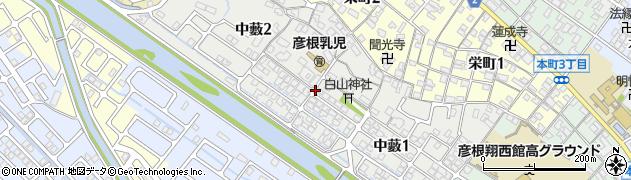滋賀県彦根市中藪周辺の地図