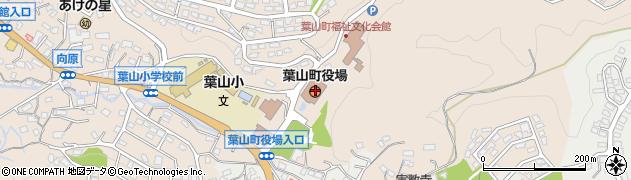 神奈川県三浦郡葉山町周辺の地図