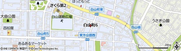 愛知県春日井市白山町周辺の地図