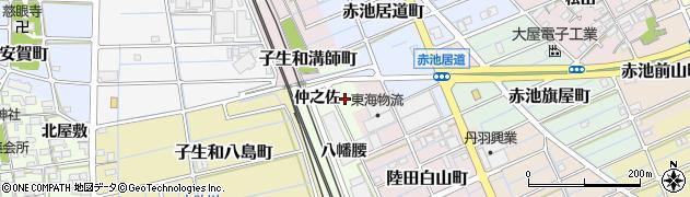 愛知県稲沢市子生和町(八幡)周辺の地図