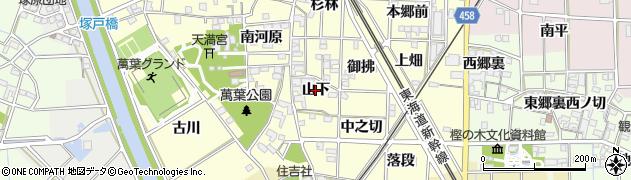 愛知県一宮市萩原町戸苅(山下)周辺の地図