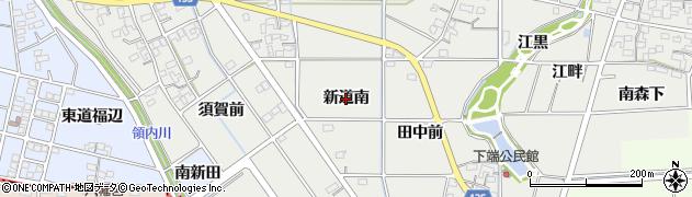 愛知県一宮市明地(新道南)周辺の地図