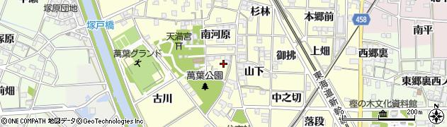 愛知県一宮市萩原町戸苅周辺の地図