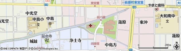愛知県一宮市萩原町東宮重(蓮原)周辺の地図