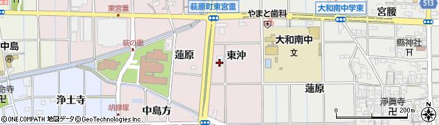 愛知県一宮市萩原町東宮重(中東沖)周辺の地図