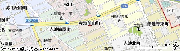 愛知県稲沢市赤池前山町周辺の地図