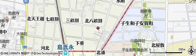 愛知県一宮市大和町氏永(北八畝割)周辺の地図