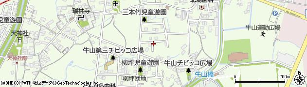 愛知県春日井市牛山町周辺の地図