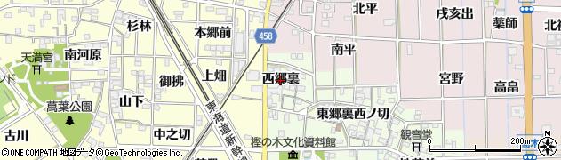 愛知県一宮市萩原町高松(西郷裏)周辺の地図