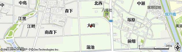 愛知県一宮市玉野(大崎)周辺の地図