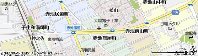 愛知県稲沢市赤池旗屋町周辺の地図