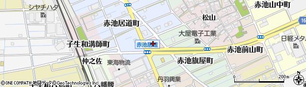 愛知県稲沢市赤池町(不所土)周辺の地図