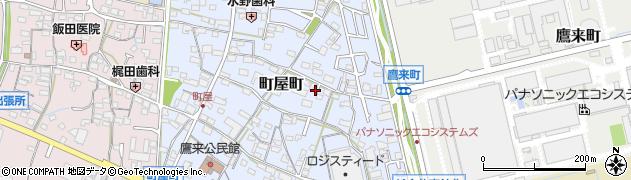 愛知県春日井市町屋町周辺の地図