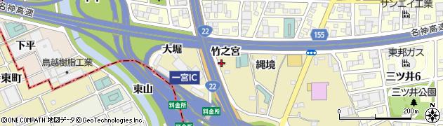 愛知県一宮市丹陽町九日市場(竹之宮)周辺の地図