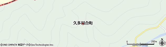 京都府京都市左京区久多川合町周辺の地図
