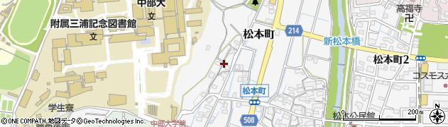 愛知県春日井市松本町周辺の地図